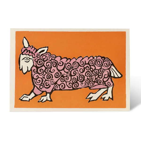 Very Curly Sheep card by Cambridge Imprint