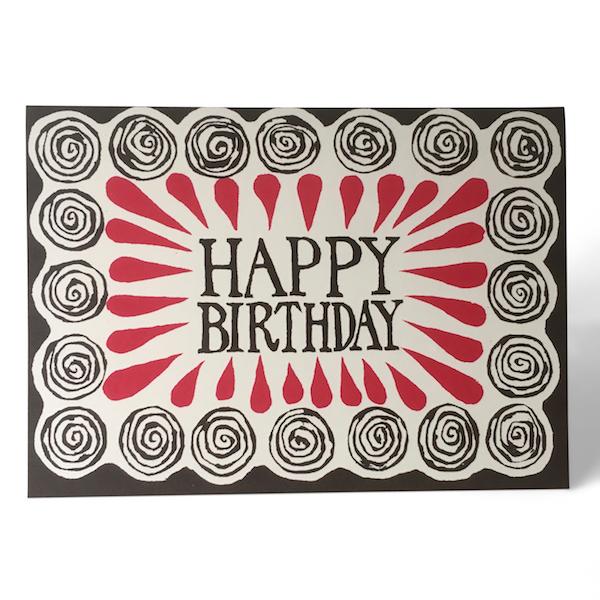 Cambridge Imprint Happy Birthday Spirals Card