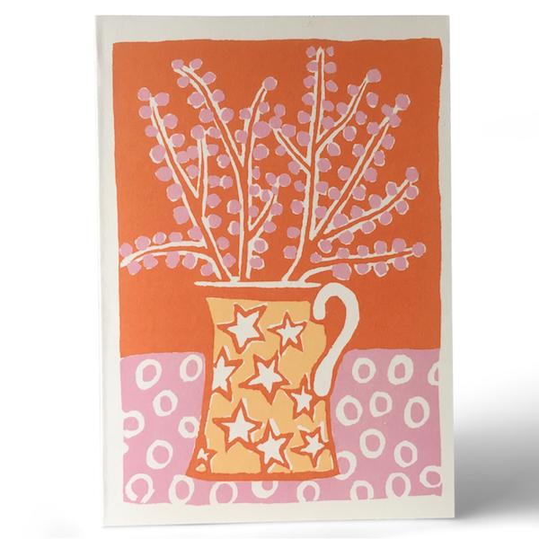 Cambridge Imprint Jug and Blossom Card
