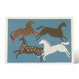 Four Horses card by Cambridge Imprint