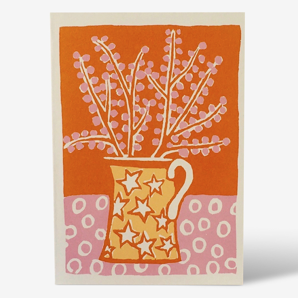 Jug and Blossom card by Cambridge Imprint