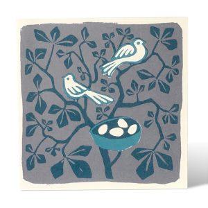 Nightbirds Nesting card by Cambridge Imprint