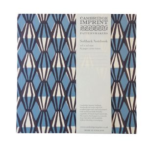 Cambridge Imprint Square Notebook Threadwork Blue and Coffee