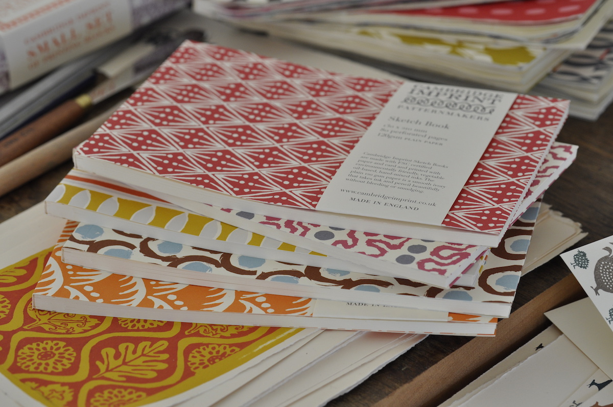 A pile of Cambridge Imprint Softback Sketchbooks
