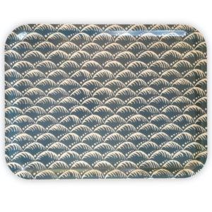 Cambridge Imprint Oblng Birch Try in Wave Indigo pattern