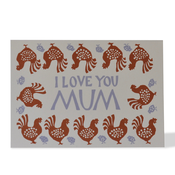 Hen and Chick card by Cambridge Imprint