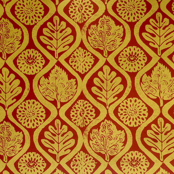 Oak Leaves design by Peggy Angus, published as a patterned paper by Cambridge Imprint