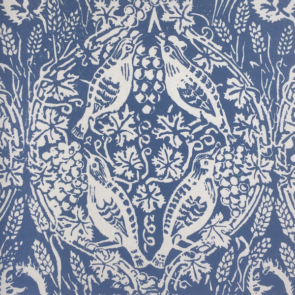 Birds and Grapes design by Peggy Angus, published as a patterned paper by Cambridge Imprint