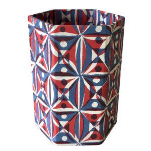 Cambridge Imprint Patterned Paper-covered Pencil Pot