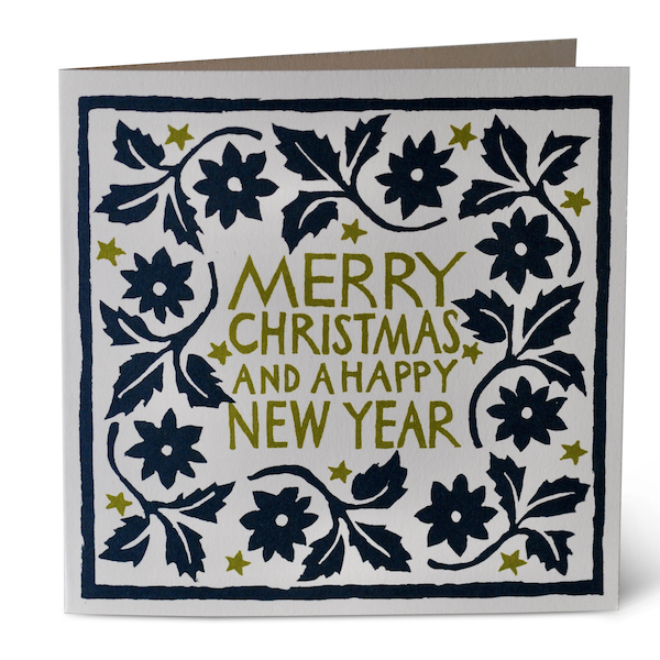Cambridge Imprint Leaves and Stars Card