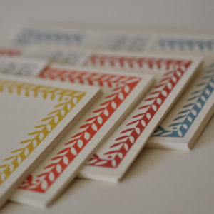 Notecards with Patterned Borders