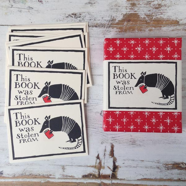 Bookplates Armadillo