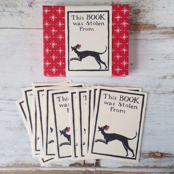 Bookplates Dog