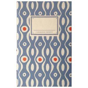 Cambridge Imprint Hardback Notebook Persephone cornflower and red
