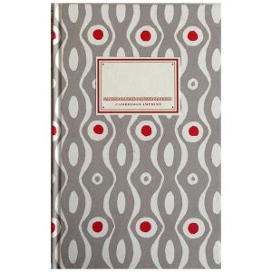 Cambridge Imprint Hardback Notebook Persephone grey and crimson