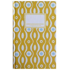 Cambridge Imprint Hardback Notebook mustard and turquoise