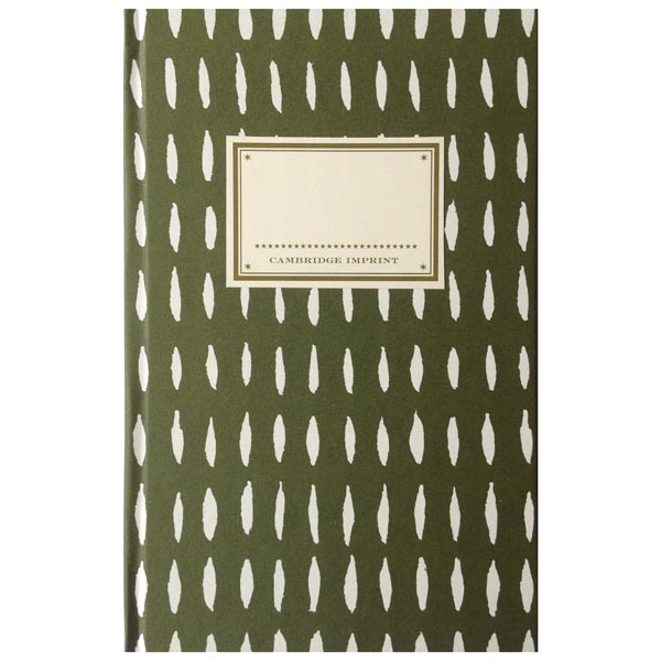 Cambridge Imprint Hardback Notebook Seed olive