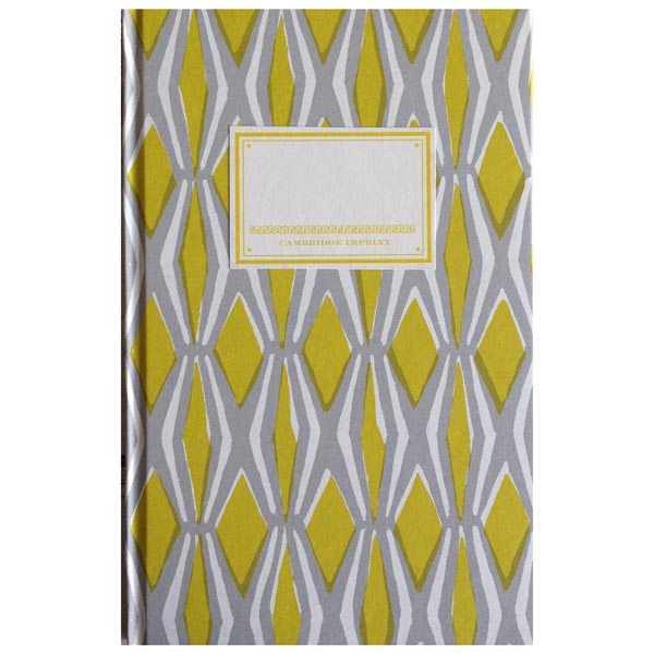 Cambridge Imprint Hardback Notebook Smocking yellow and grey