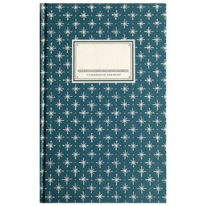 Cambridge Imprint Hardback Notebook Little Stars petrol blue
