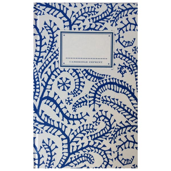 Cambridge Imprint Hardback Notebook Seaweed Paisley Prussian blue
