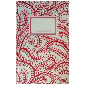 Cambridge Imprint Hardback Notebook Seaweed Paisley crimson