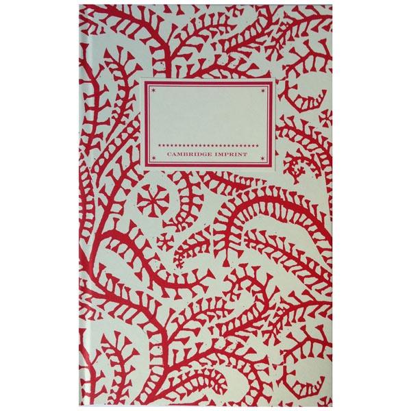 Cambridge Imprint Hardback Notebook Seaweed Paisley crimson