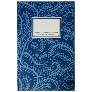 Cambridge Imprint Hardback Notebook Seaweed Paisley cyanotype