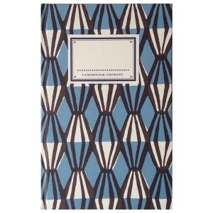 Cambridge Imprint Hardback Notebook Threadwork blue and coffee