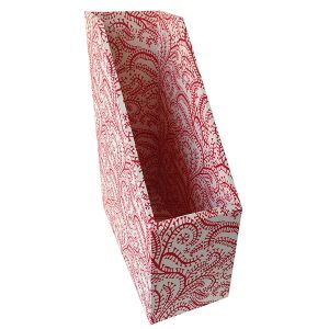 Magazine File Seaweed Paisley Crimson by Cambridge Imprint